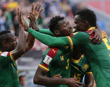 Cameroon's Aboubakar lets Australia off hook