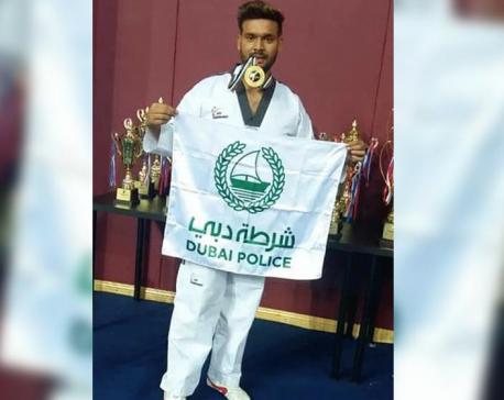 Nepali player honored in UAE