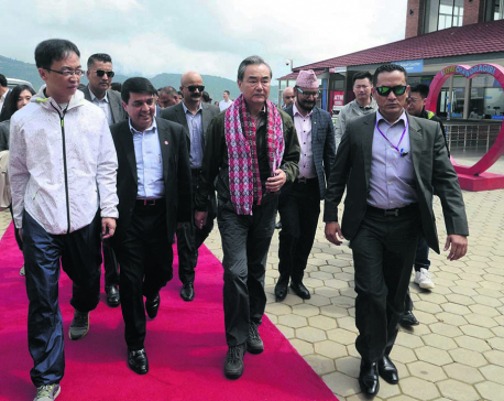 Chinese foreign minister visits Chandragiri