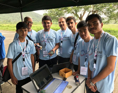 Nepali team awarded in Can Satellite Competition