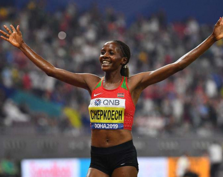 Athletics: Kenya's Chepkoech breaks 5km world record in Monaco
