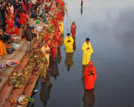 IN PICS: Devotees throng Teku Dovan in Kathmandu to observe Chhath festival