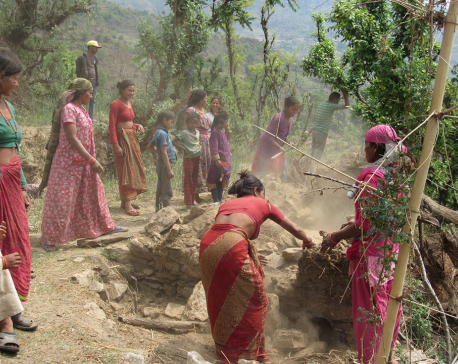 Women demolishing Chhaupadi sheds in Achham