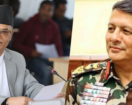 Army chief Thapa meets Chief Justice Rana