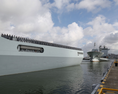 China sends forces to 1st military base abroad, in Djibouti