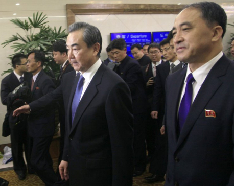 China's foreign minister in N. Korea seeks role for Beijing
