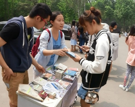 Chinese students helping quake victims