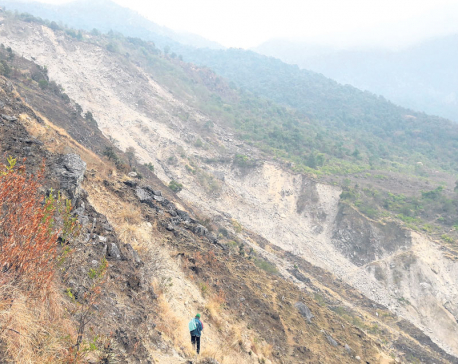 Village settlements at risk of being buried by landslides