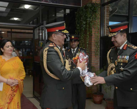 CoAS Thapa returns home after week-long US visit