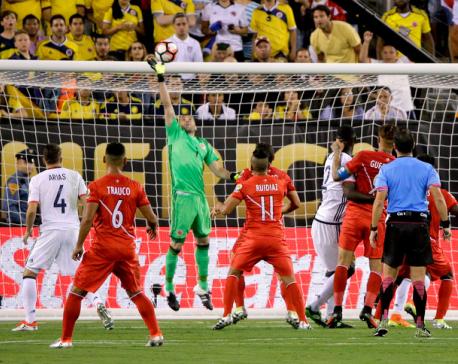 Colombia beats Peru 4-2 on PKs to reach Copa America semis