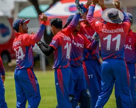 Nepal fielding against UAE