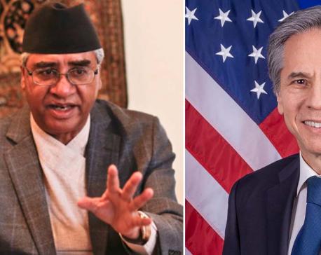 US Secretary Blinken calls PM Deuba, discusses MCC