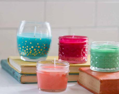 DIY homemade natural candles