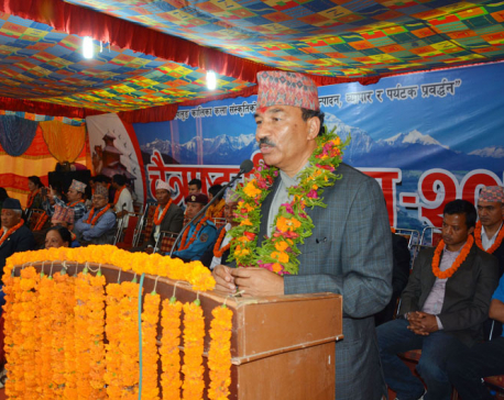DPM Thapa stresses on culture conservation