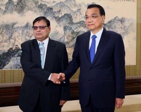 Xi positive about visiting Nepal, Chinese PM tells DPM Mahara
