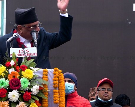 It is Oli's conspiracy to make statement that the unity effort was not successful because of me: Dahal