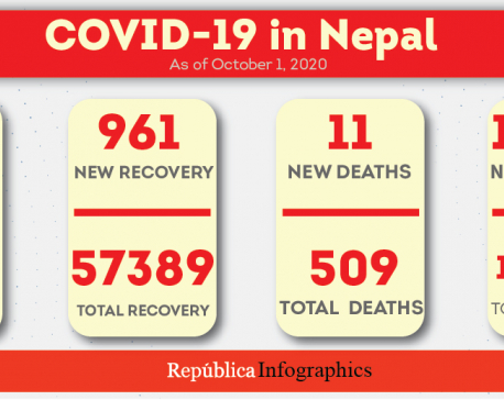 1,911 new COVID-19 cases detected in Nepal, caseload closer to 80,000