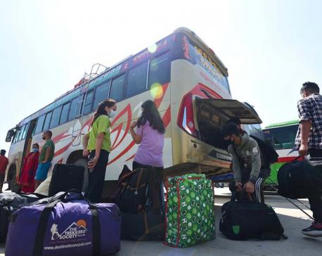 Over 100,000 people leave Kathmandu for Dashain