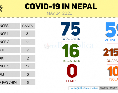 Province 1 worst hit by COVID-19 with 31 cases; no case in Karnali so far (with video)