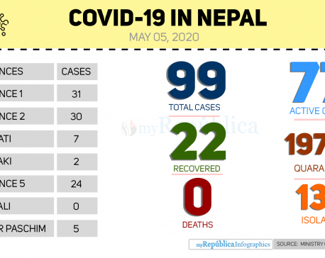 With 17 new cases today, the total COVID-19 cases in Nepal climb to 99 (with video)