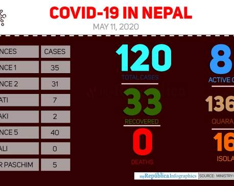 With 10 new cases today, Nepal's COVID-19 tally reaches 120