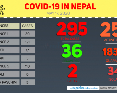 Health ministry confirms three new COVID-19 cases, number of total cases reaches 295