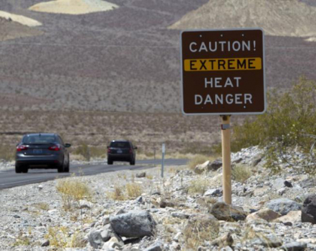 California's Death Valley to reach a searing 53 Celsius