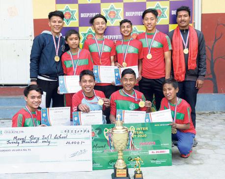 Mount Glory wins Deep Jyoti Inter-school title