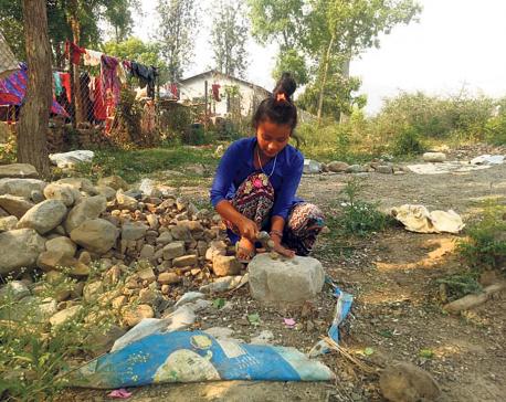 Poor children in Karnali deprived of education