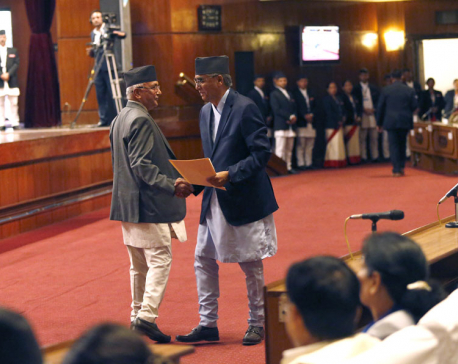Deuba, Dahal and Oli exchange barb words