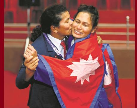 Khadka wins gold in judo