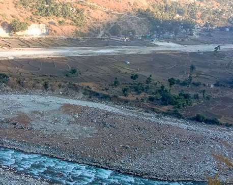 Bajhang airport blacktopping behind schedule