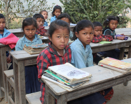 After three hours walk to school, children have no classes