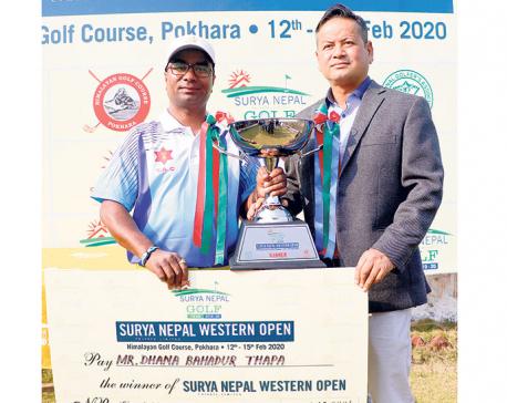 Dhana wins Surya Nepal Western Open