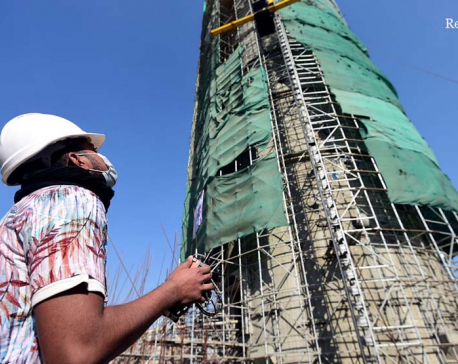 Dharahara reconstruction in photos