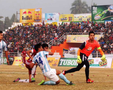 Indian team Durgapur Steal beats organizer Dharan football club