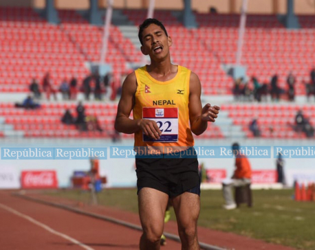 Deepak Adhikari wins bronze in 10000m race