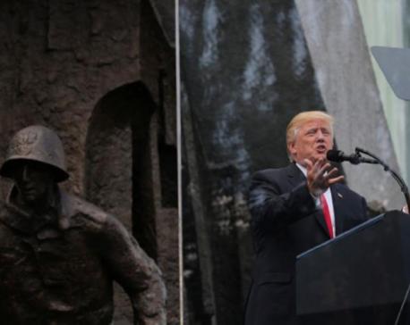 Trump pledges to act on North Korean threat