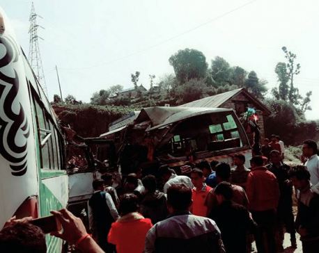 Two killed, 24 injured in Doti bus mishap