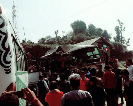 Two killed, 24 injured in Doti bus mishap
