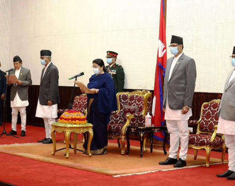 New Foreign Minister Khadka sworn in amid reservation of NC's Paudel faction