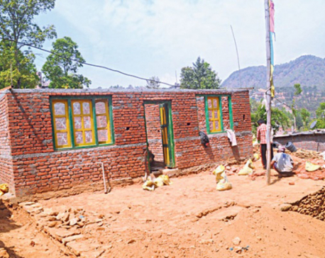 Tired of waiting for Indian aid, MoE rebuilds schools on its own