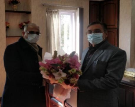Indian Ambassador Kwatra calls on Minister Rayamajhi
