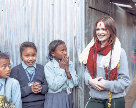 German actress visits communities in Makwanpur