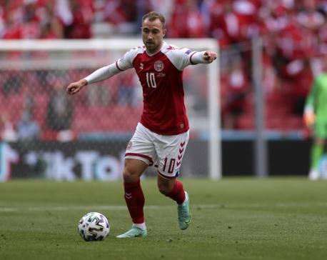 Eriksen's surprise visit gave 'good energy' to Denmark team