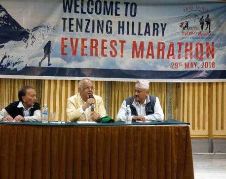 Over 200 runners participating in Everest Marathon