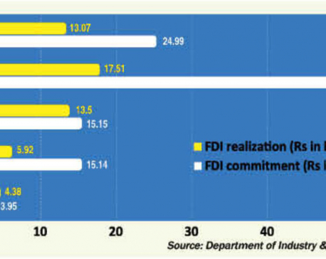 Only 47% of FDI commitment materialized in 5 years