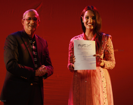 Cine artists felicitated with critics award (Photo feature)