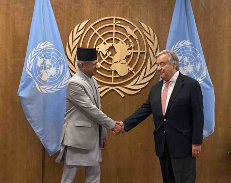 FM Gyawali invites UN Secy General to Sagarmatha Dialogue