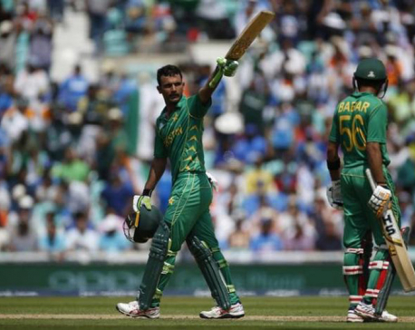 Sublime Fakhar leads Pakistan to 338-4 in Champions Trophy final